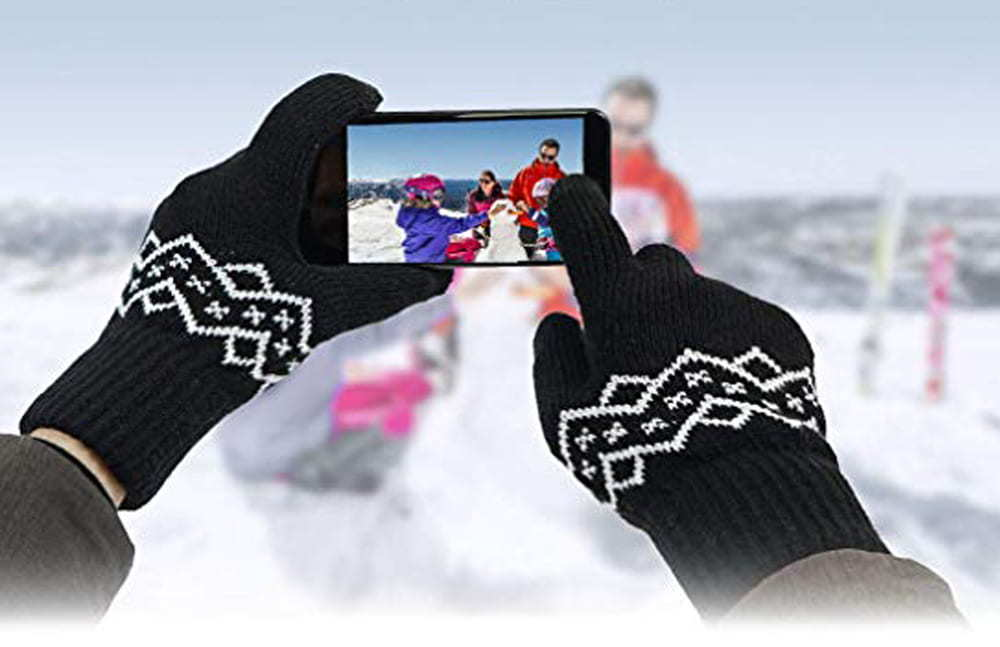 Yobenki Winter Warm Gloves Women Mens Gloves Touch Screen Gloves Thermal Gloves Cycling Bike Sports Compression Gloves for Winter Early Spring Or Fall