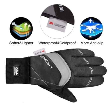 KINGSBOM Waterproof Warm Gloves - 3M