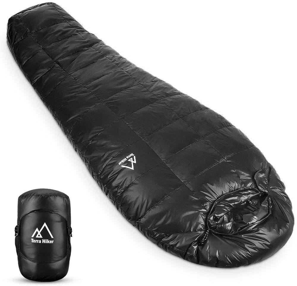 terra hiker down sleeping bag